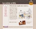 Portada del nou web de La cuina a Sils